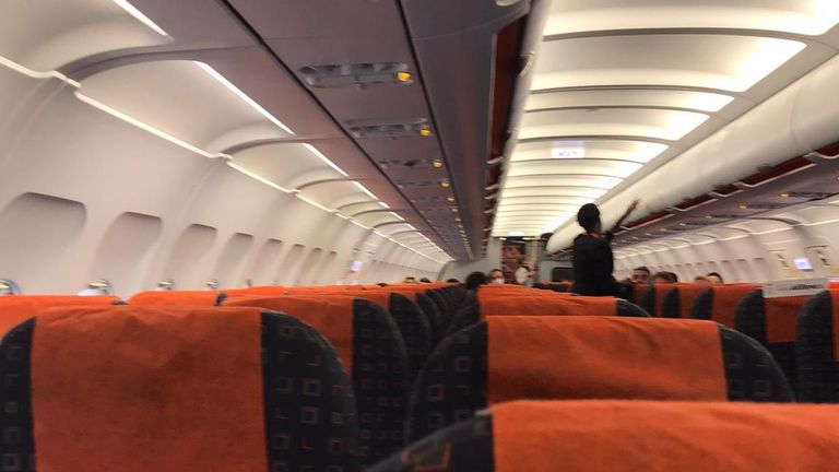 Francesca Bragoli flew from Italy to the UK on a nearly empty flight before the lockdown was extended to the whole country
