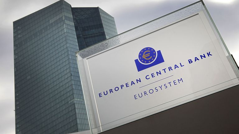 The European Central Bank is in Frankfurt