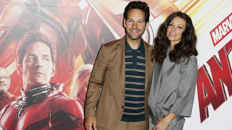 Lilly with her Ant-Man And The Wasp co-star Paul Rudd