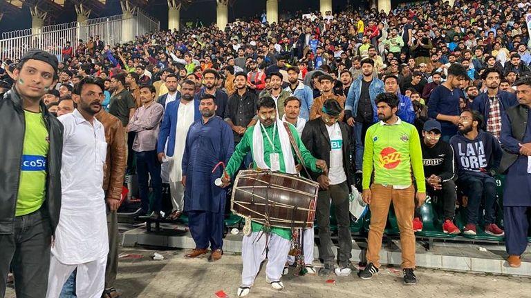 Cricket fans in Pakistan