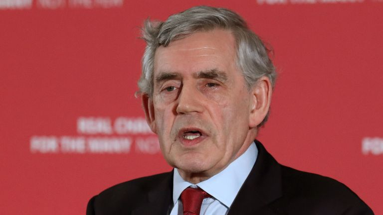 File photo dated 20/5/2019 of former prime minister Gordon Brown