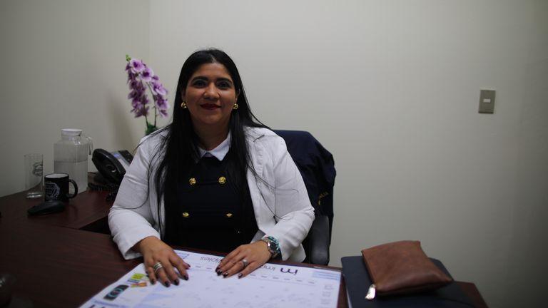 Graciela Sagastume, who works in El Salvador's District Attorney's office