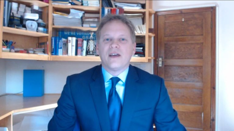Grant Shapps said he was 'sure there were individual examples' where it looks like the police may have taken wrong approach in dealing with people flouting government lockdown rules