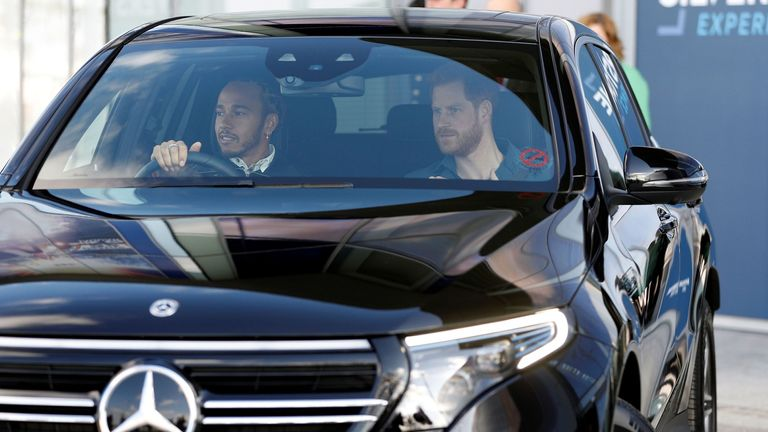 Prince Harry opened a museum at Silverstone with Lewis Hamilton