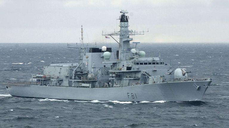 Type 23 Frigate HMS Sutherland.