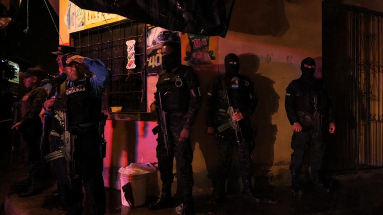 Police stand by in Honduras