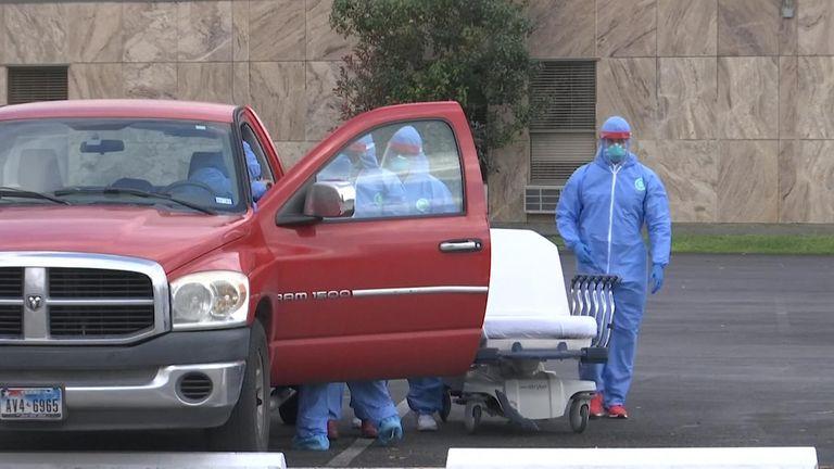Houston coronavirus drive through testing