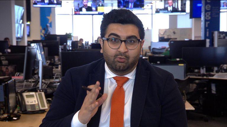Sky News correspondent Inzamam Rashid.