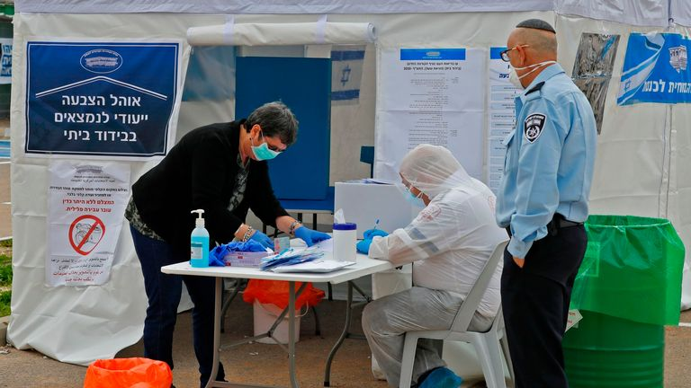 Authorities have put precautions in place at polling booths