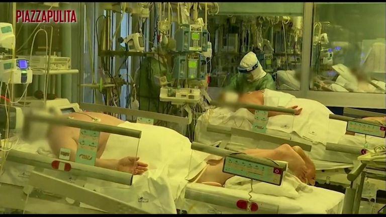 Hospital in Cremona, Italy, treats coronavirus patients
