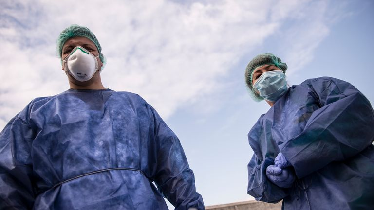 Italy Clamps Down On Public Events And Travel To Halt Spread Of Coronavirus on March 23, 2020 in Turin, Italy