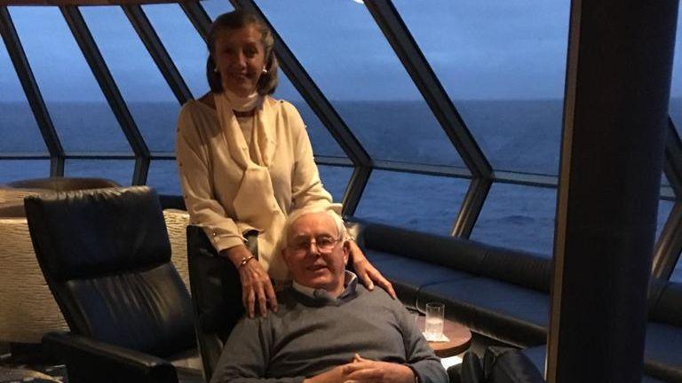 Jenni and Tony Wills aboard the Zaandam