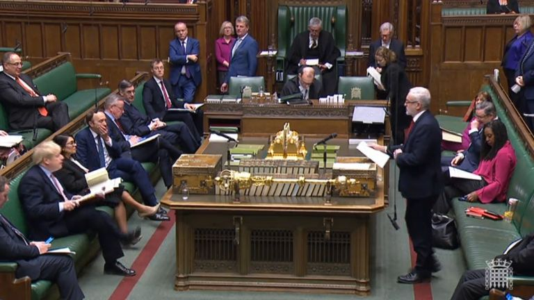 The Conservative and Labour leaders battle it out at PMQs