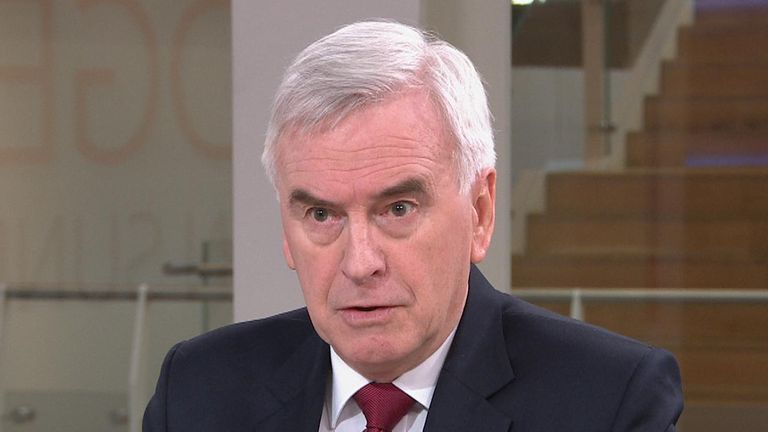Shadow chancellor, John McDonnell on Ridge on Sunday.