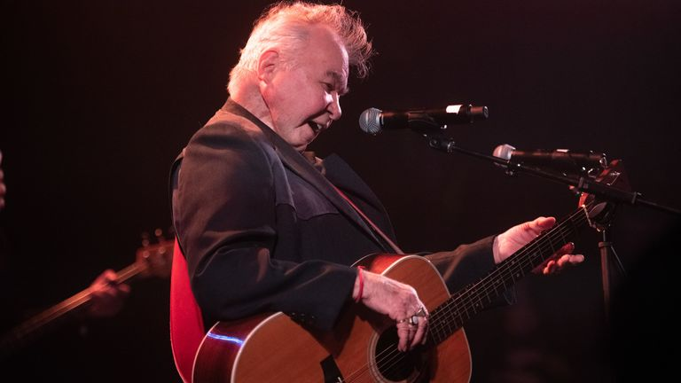 Singer John Prine, recipient of the 2020 Recording Academy's Lifetime Achievement Award, performs onstage during AMERICANAFEST's Pre-GRAMMY Salute to Willie Nelson at The Troubadour on January 25, 2020 in Los Angeles, California