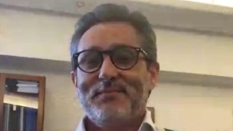 MEDICAL DIRECTOR OF CLINICO SAN CARLOS TALKS TO SKY NEWS ON THE VIRUS OUTBREAK IN SPAIN.