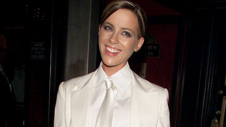 Kate Beckinsale at the Serendipity premiere in New York in 2001