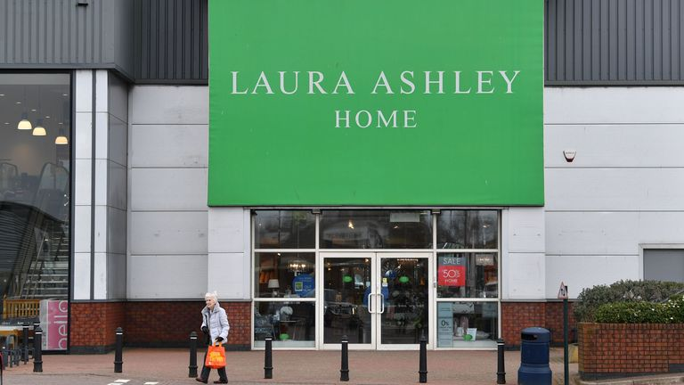 The Laura Ashley Home store in Liverpool