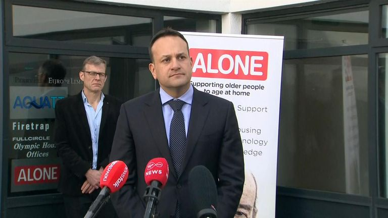 Leo Varadkar outlining Ireland's response to the pandemic