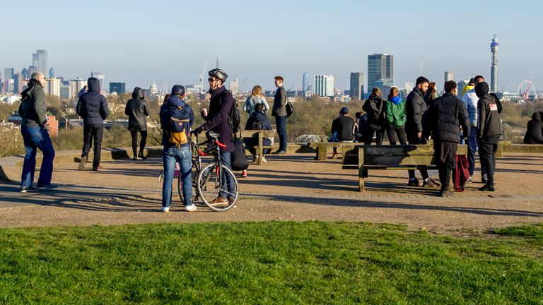 Primrose Hill in London at the weekend