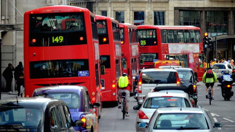 The 20mph speed limit has been imposed on routes in central London