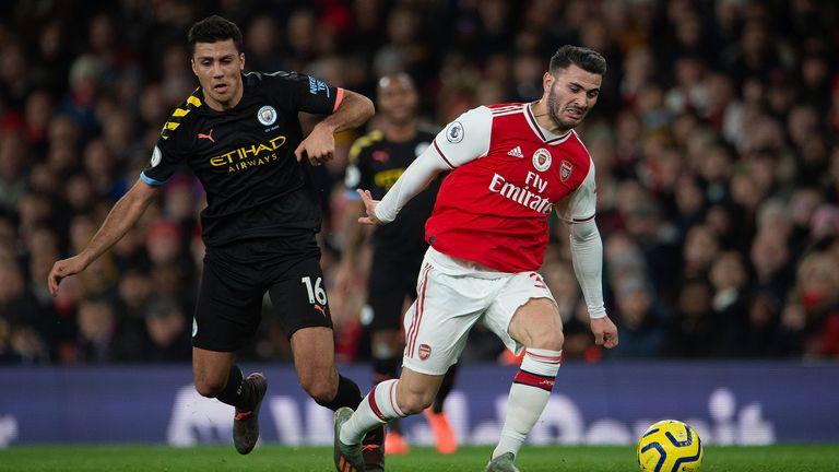 Arsenal FC taking on Manchester City at Emirates Stadium on December 15, 2019
