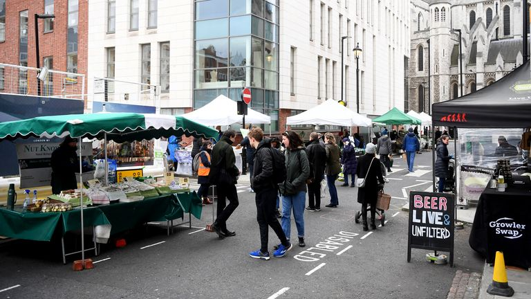 Marylebone Farmers Market appeared to be busy on Sunday morning