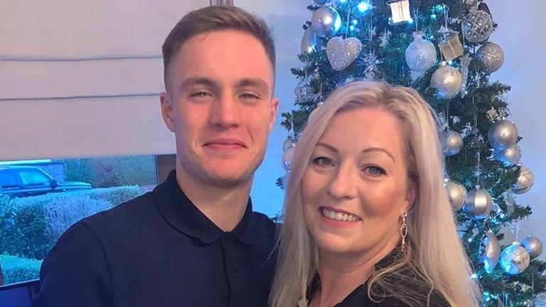 Matthew McCombe with his mother Paula