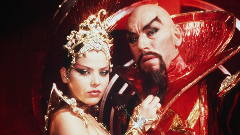 Max Von Sydow and Ornella Muti in Flash Gordon