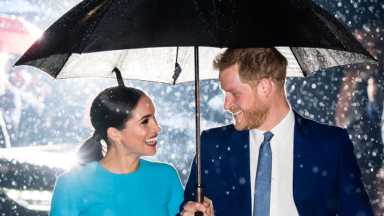 The couple attended the event on a very damp night in the capital