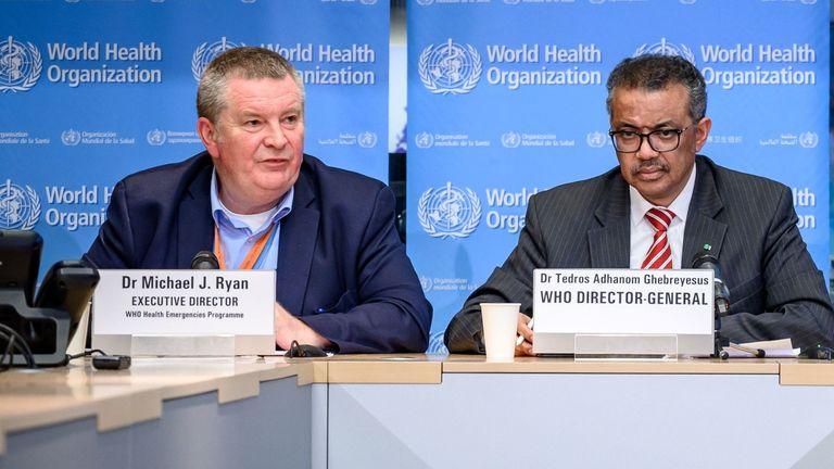 Dr Michael Ryan and Tedros Adhanom Ghebreyesus