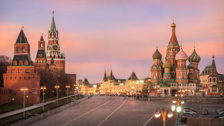 Moscow's Kremlin and St Basil's Cathedral
