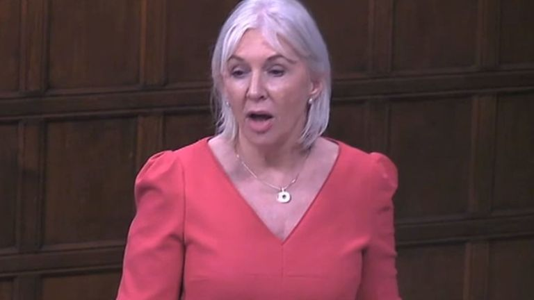 Health minister Nadine Dorries speaking in Westminster Hall on 5 March