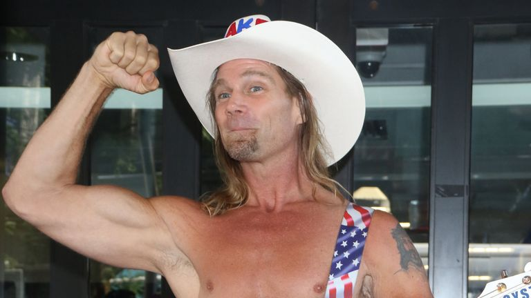 Times Square fixture the Naked Cowboy has been defying the cold and coronavirus