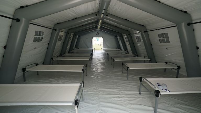 Inside the emergency field hospital in Central Park