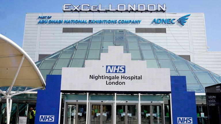 NHS Nightingale at London's Excel centre