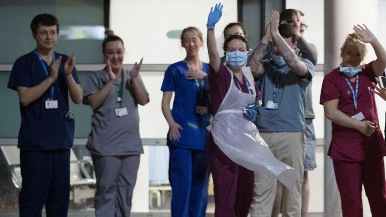 Staff from the Royal Liverpool University Hospital