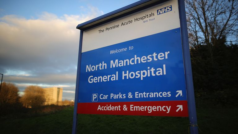 The patient was being treated at North Manchester General Hospital when he died