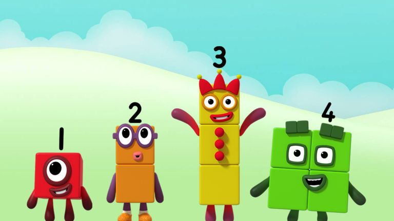 Numberblocks. Pic: @BBC