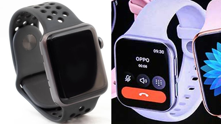 Apple and Oppo watches