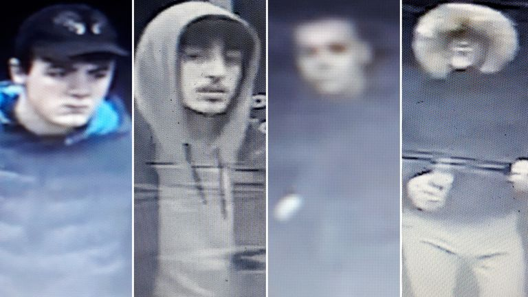 Images of four men released after attack on man in Oxford Street