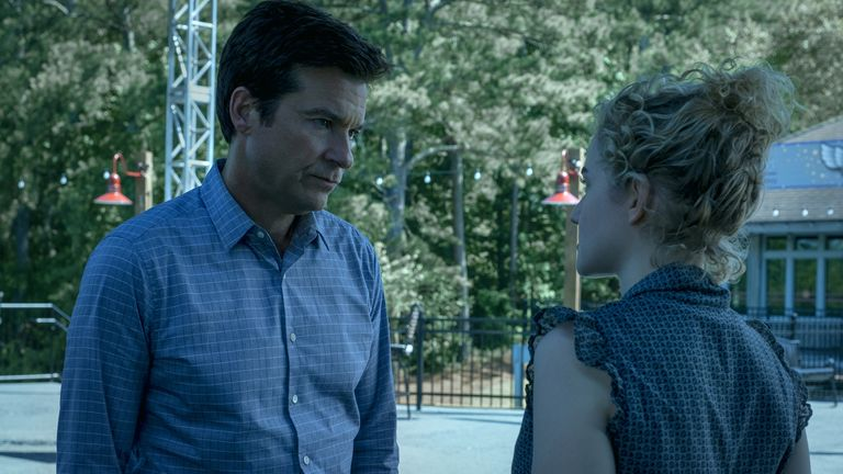Jason Bateman and Julia Garner at Ozark. Pic: Netflix