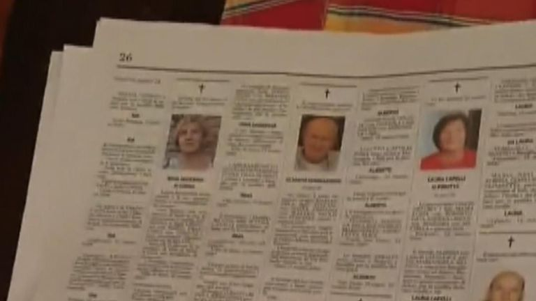 Obituaries in a Local Paper Show the Huge Increase in Deaths in Northern Italy