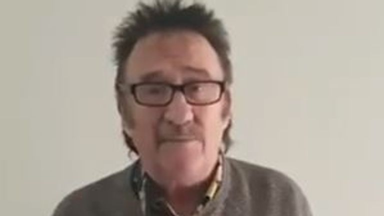 Paul Chuckle said had been 'laid-up' with COVID-19
