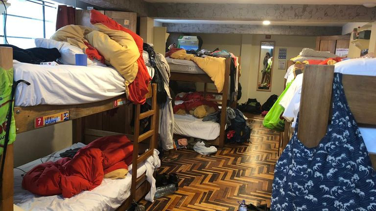 The women say they are confined to their dormitories except for mealtimes