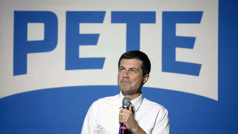 Democratic presidential candidate hopeful Pete Buttigieg spoke to about 1,000 supporters at Iowa State University