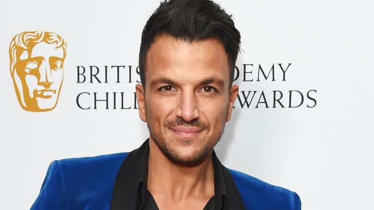 Peter Andre attends the BAFTA Children's Awards at The Roundhouse on November 26, 2017 in London, England.