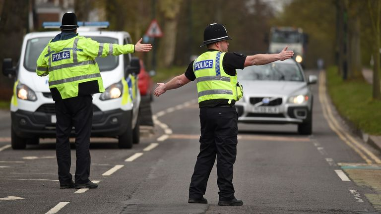 Police stop drivers to check their travel is 'essential'