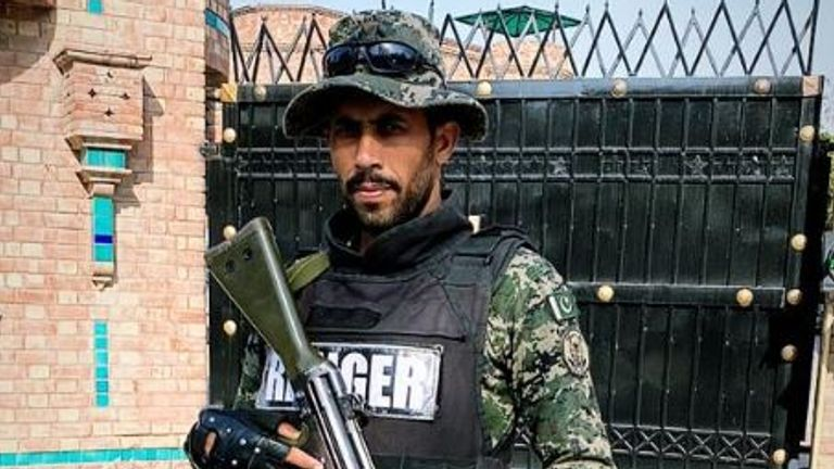 Armed police are in Pakistan as the cricket returns