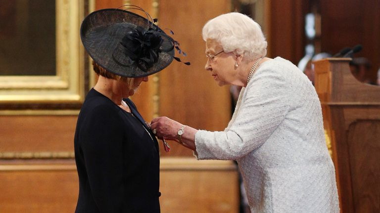 Professor Jane Cummings is made a CBE (Commander of the Order of the British Empire) by Queen Elizabeth II at Windsor Castle.